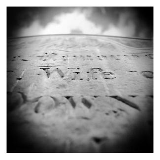 Black and White photos of cemeteries